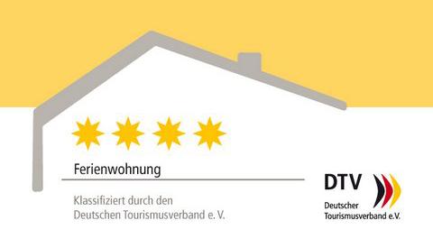 DTV Kl Schild Ferienwohnung 4 Sterne edit